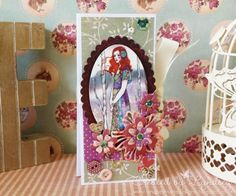 SANTORO'S Willow Quad Tag Card made by our new DT member, Lyndsey