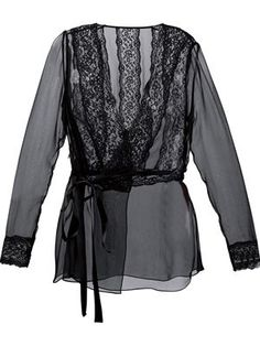 sheer wrap blouse
