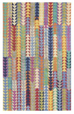 Our hand-tufted Vintage Quilt jut rug was inspired by an antique quilt, and features a boldly graphic design drenched in saturated colors. This area rug features a dense loop-pile construction which is tip sheared for extra texture, and the perfect. Antique Quilts, Vintage Quilts, Flying Geese Quilt, Country Quilts, Natural Fiber Rugs, Traditional Quilts, Yellow Area Rugs, Design Studios, Hand Tufted Rugs