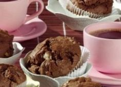 Schoko-Marzipan-Muffins - Foodierecipes Marzipan Muffins, Breakfast, Food, Molten Chocolate, Cacao Powder, Oven, Easy Meals, Food Food, Sheet Metal