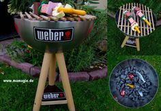 Selbstgemachter Kindergrill