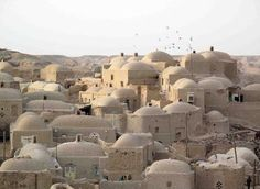 """Ghale No,"" a traditional earthen village in Sistan of Iran. This village's name…"