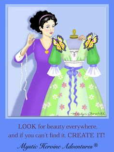 """""""Look for beauty everywhere, and if you can't find it, Create it!"""" The Mystic Heroine Guide Book. Fantasy Books, Guide Book, Book Series, Mystic, Adventure, Disney Princess, Create, Disney Characters, Tips"""