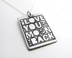 I love you to the moon and back necklace   by lulubugjewelry, $46.00