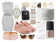 """n e u t r a l"" by liionyx on Polyvore featuring River Island, adidas, MVMT, Henri Bendel, NARS Cosmetics, Byredo, Très Pure, Korres, Thierry Lasry and Tocca"