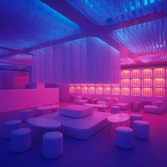 Neon Aesthetic, Aesthetic Rooms, Club Lighting, Neon Lighting, Arquitectura Wallpaper, Interaktives Design, Nightclub Design, New Retro Wave, Interior Architecture