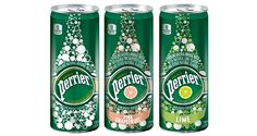 Perrier Slim Cans in three flavours – natural, grapefruit and lime – all with no sugar and zero calories.
