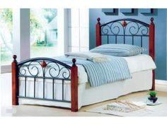 Легло за матрак: 90/ 200см.;Тегло: 20кг.;Материал: Масив /Оцветен метал.;Цвят: Тъмен орех/ Черно.;Срок на изработка – на