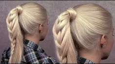 French braided ponytail - trendy everyday hairstyle for long hair for spring 2013, via YouTube.