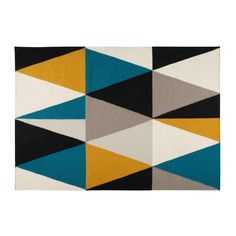 ARCHI rug with multicoloured triangle motifs 200 x 140 cm