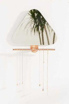 Bethany Triangle Jewelry Storage Mirror