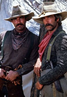 Actors Sam Elliott and Tom Selleck in The Shadow Riders, 1982 Sam Elliott Pictures, Shadow Riders, Bermuda Shorts Women, Tom Selleck, Tv Westerns, Famous Faces, Hollywood Stars, Gorgeous Men, Hello Gorgeous