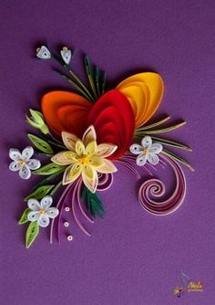 Neli is a talented quilling artist from Bulgaria. Her unique quilling cards bring joy to people around the world. Neli Quilling, Quilling Paper Craft, Quilling Flowers, Quilling Cards, Paper Crafts, Quilling Patterns, Quilling Designs, Quilling Ideas, Origami