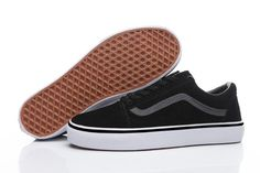 bf3e21001f1 Vans Suede Woven Old Skool Classic Black White Men Shoes  Vans Vans Suede