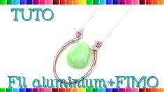 { Tuto } Bijoux fil aluminium et FIMO # 20