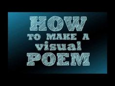 Explore examples of visual poetry (poems that are designed to be seen) through the works of American poet Douglas Kearney, American artist Carrie Mae Weems, and Japanese surrealist Kansuke Yamamoto. Discover ideas for creating your own visual poems inspired by these artists.
