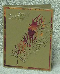 Feather card by cards4joy - Cards and Paper Crafts at Splitcoaststampers