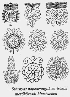Hungarian archived ornamental pattern designs for clothing and fabrics ŐSI MAGYAR NÉPMŰVÉSZETI STÍLUSELEMEK