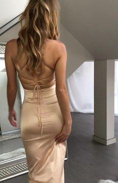 Vestidos ❤ Unique Prom Dresses, Glam Dresses, Tight Dresses, Dance Dresses, Satin Dresses, Elegant Dresses, Pretty Dresses, Sexy Dresses, Evening Dresses