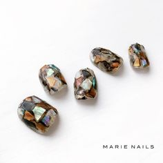自動代替テキストはありません。 in 2020 Nail Saloon, Happy Nails, Nail Ring, Ring Watch, Crystal Nails, Marble Nails, Short Nails, Nail Inspo, Pedicure