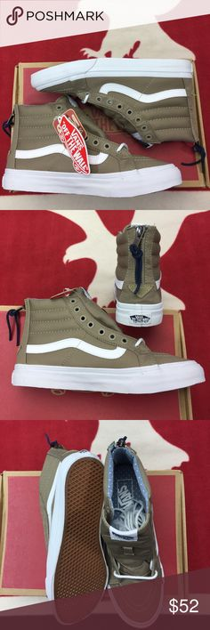 5ced7ca5a3 Vans Sk8-Hi Slim Zip Dune Twill Chambray Dots  The Sk8-Hi Slim
