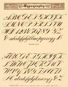 Calligraphy Fonts Alphabet, Script Alphabet, Copperplate Calligraphy, Typography Alphabet, Calligraphy Practice, Vintage Typography, Lettering Guide, Graffiti Lettering Fonts, Doodle Lettering