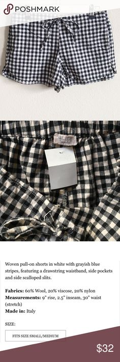 NWT brandy melville summer shorts NWT brandy melville black & white gingham summer shorts. SOLD OUT. one size. see pic #4 for details. bought for retail+tax+shipping, totals up to about $35. Brandy Melville Shorts