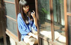 #ohta blue woman jacket #15SS
