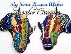 My Sista Keeper Africa Earrings by BOABW on Etsy