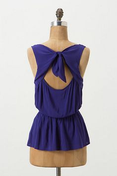 Adore the back of this peplum blouse! It makes the top.