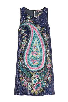 Enjoy an additional 50% off sale styles. Embellished paisley dress.