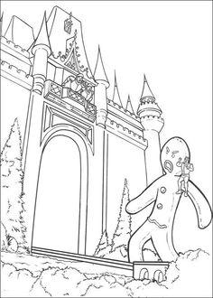Shrek Tegninger til Farvelægning. Printbare Farvelægning for børn. Tegninger til udskriv og farve nº 72