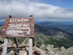 Discover Mount Katahdin in Millinocket, Maine: The highest point in Maine is a grand gift to the state citizens that also happens to be one end of the Appalachian Trail. Thru Hiking, Hiking Tips, Camping And Hiking, Backpacking, Hiking The Appalachian Trail, Millinocket Maine, Baxter State Park, Visit Maine, Hiking Training