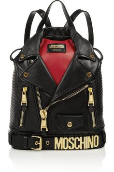 Moschino leather jacket backpack (more fun fashion today on CCF -- http://chicityfashion.com/fun-fashion/)