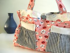 Red white blue and houndstooth starburst holdall by shelleyberelli