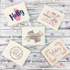 Looking for a thoughtful gift for your bridal party?! Then our adorable makeup bags are the perfect favor! What girl wouldn't love a personalized makeup bag? Checkout all of our oh so fab designs!