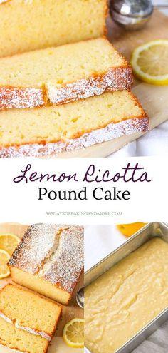 Easy Pound Cake, Pound Cake Recipes, Cupcake Recipes, Cupcake Cakes, Dessert Recipes, Cupcakes, Lemon Desserts, Lemon Recipes, Easy Desserts