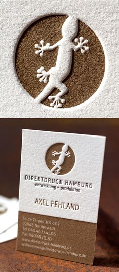 printed and embossed business cards