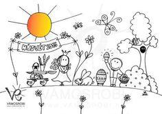 Húsvéti Felhőtlen kifestők Vámos Robitól