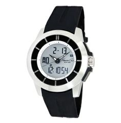Analog And Digital Watch With Rubber Strap - Kenneth Cole
