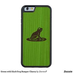 Green with black frog Bumper Cherry Carved® Cherry iPhone 6 Bumper Case
