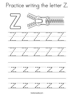 Practice Writing The Letter Z Coloring Page