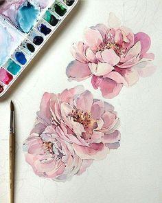 Beautiful Flower Watercolours by Natalia Kadantseva Check out her Instagram: www.instagram.com/kadantsevanatalia
