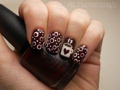 Hot chocolate nail art. This is so super cute!