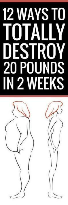 12 brilliant ways to lose 20 pounds in 2 weeks.