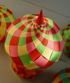 images about Paper BaublesChristmas Decorations on