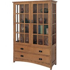 Arts & Crafts Hutch Hardware Kit and Plan - Build a Mission style hutch resembling those made by Gustav Stickley.