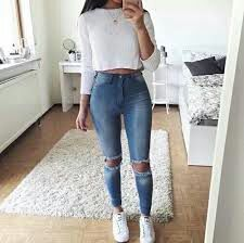 Lovely Look. 43 Lovely Casual Style Looks To Look Cool And Fashionable – Latest Fall Outfits Collection. Lovely Look. Tumblr Outfits, Mode Outfits, Trendy Outfits, Simple Outfits For Teens, Cute Simple Outfits, Casual Outfits For Teens School, Diy Outfits, Outfits 2016, Basic Outfits