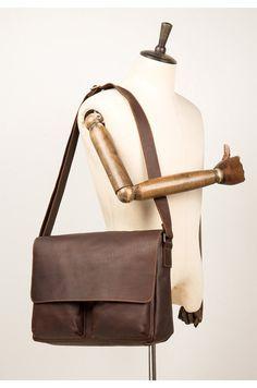 Final de línea de la venta de lujo marrón engrasado Cuero bolsa de negocios maletín