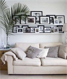 Украшение стен черно-белыми фото http://styldoma.ru/poleznoe/galereya-krasivoe-ukrashenie-sten#more